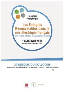 """Webdoc du colloque """"Les Énergies Renouvelables dans le mix électrique français"""""""